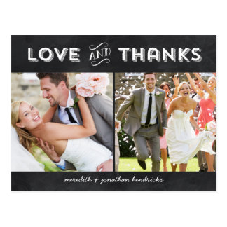 Whimsical Chalkboard Photo Thank You Post Cards
