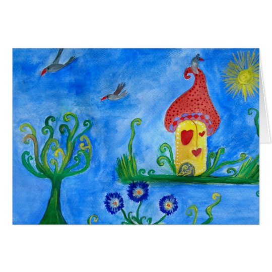 Whimsical Child Illustration Greeting Card