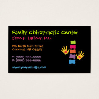 Whimsical Chiropractic Business Cards