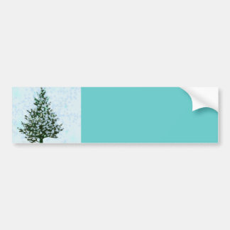 Whimsical Christmas Forest Bumper Sticker