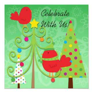 Whimsical Christmas Holiday Party Invitation