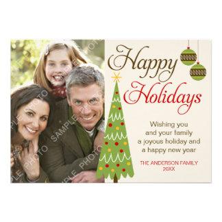 Whimsical Christmas Tree Holiday Photo Card