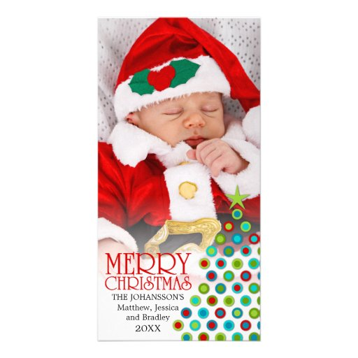 Whimsical Christmas Tree Holiday Photo Cards