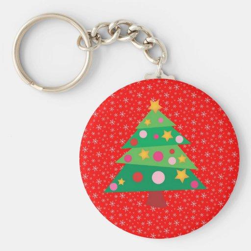 Whimsical Christmas Tree Key Chain