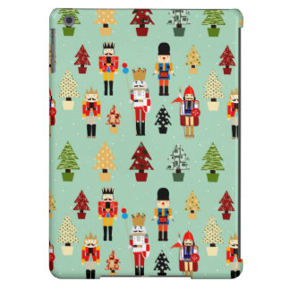 Whimsical Christmas Trees and Nutcrackers iPad Air Covers