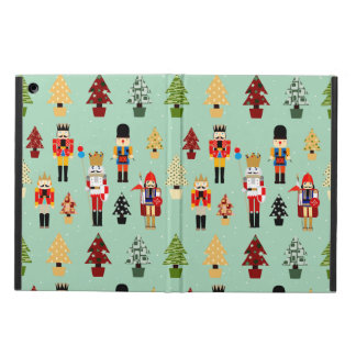 Whimsical Christmas Trees and Nutcrackers Cover For iPad Air