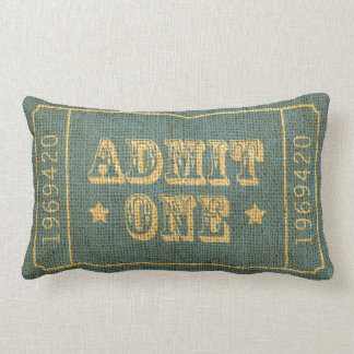 Whimsical Circus Theatre Ticket Admit One Throw Cushion