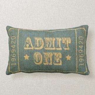 Whimsical Circus Theatre Ticket Admit One Throw Cushion