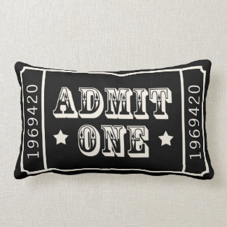 Whimsical Circus Theatre Ticket Admit One Throw Cushions