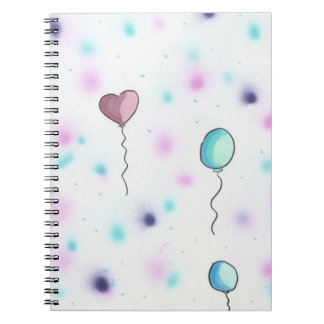 Whimsical Colored Candy Balloons2Notebook Journal