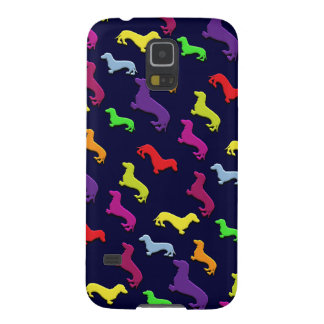 Whimsical Colorful and Fun Dachshund dogs Pattern Case For Galaxy S5