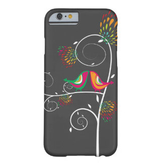 Whimsical Colorful Kissing Summer Birds Casing Barely There iPhone 6 Case