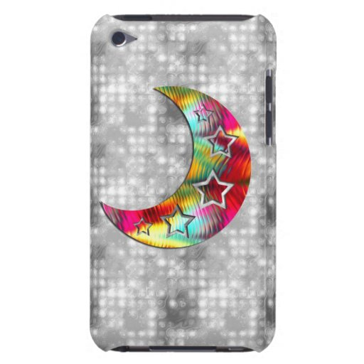 Whimsical Colorful Stars and Moon iPod Case-Mate Case