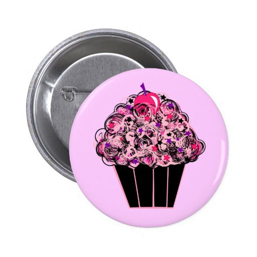 Whimsical Cupcake Buttons