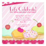 Whimsical Cupcake Party Invitation