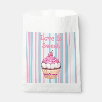 Whimsical Cupcake Pink Party Favors Bag Favour Bags