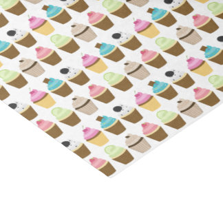 Whimsical Cupcakes Pattern Tissue Paper