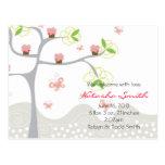 Whimsical Cupcakes Tree Butterflies Sweet Birthday Postcard