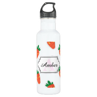Whimsical cute chibi vegetable pattern 710 ml water bottle