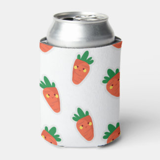 Whimsical cute chibi vegetable pattern can cooler