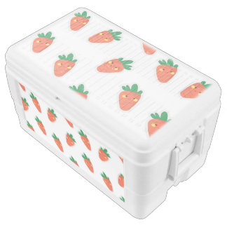 Whimsical cute chibi vegetable pattern chest cooler