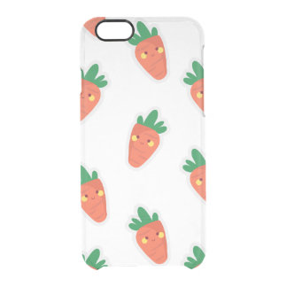 Whimsical cute chibi vegetable pattern clear iPhone 6/6S case