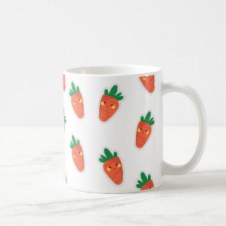 Whimsical cute chibi vegetable pattern coffee mug
