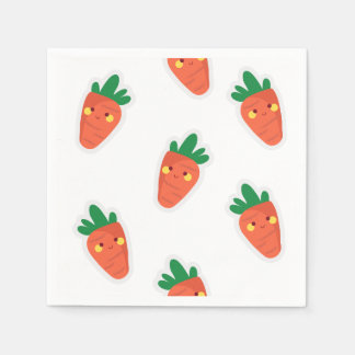 Whimsical cute chibi vegetable pattern disposable serviettes