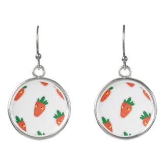 Whimsical cute chibi vegetable pattern earrings