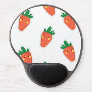Whimsical cute chibi vegetable pattern gel mouse pad