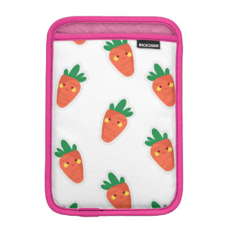 Whimsical cute chibi vegetable pattern iPad mini sleeve