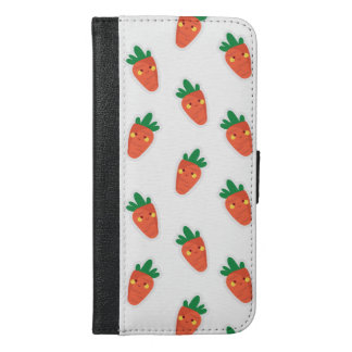 Whimsical cute chibi vegetable pattern iPhone 6/6s plus wallet case