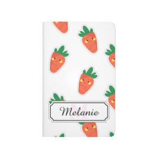 Whimsical cute chibi vegetable pattern journal