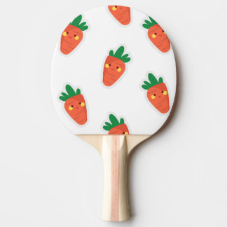 Whimsical cute chibi vegetable pattern ping pong paddle