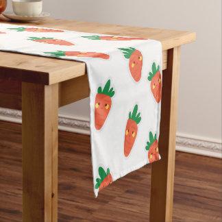 Whimsical cute chibi vegetable pattern short table runner