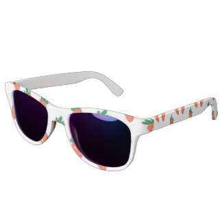 Whimsical cute chibi vegetable pattern sunglasses