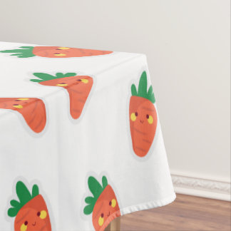 Whimsical cute chibi vegetable pattern tablecloth