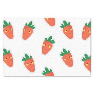 Whimsical cute chibi vegetable pattern tissue paper