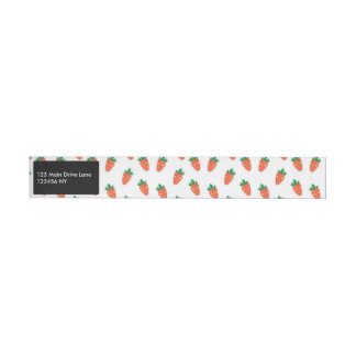 Whimsical cute chibi vegetable pattern wraparound address label
