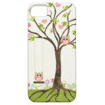 Whimsical Cute Owls Tree of Life Heart Leaf Swirls iPhone 5 Cases