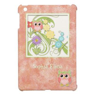 Whimsical Cute Owls Tree of Life Heart Leaf Swirls iPad Mini Covers
