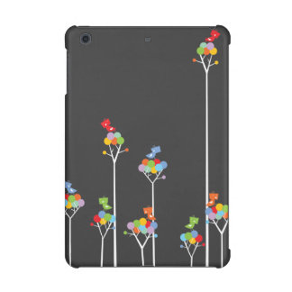 Whimsical Cute Tweet Birds Colorful Fun Tree Dots Case For The iPad Mini