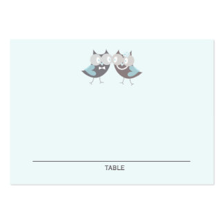Whimsical Cute Wedding Owls Wedding Place Cards Business Cards