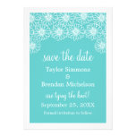 Whimsical Daisies Save the Date Invite, Aqua
