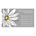 Whimsical Daisy - yellow grey Pack Of Standard Business Cards