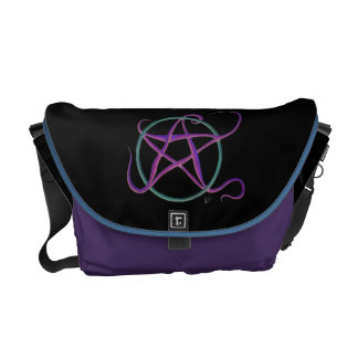 Whimsical Dancing Pentacle Messenger Bag