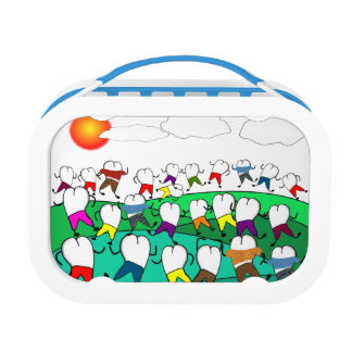 Whimsical Dental Tooth Art Lunch Box