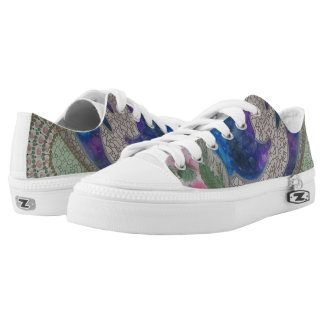 Whimsical dolphins printed shoes