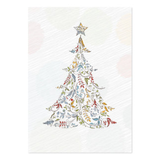 whimsical doodles christmas tree business card template
