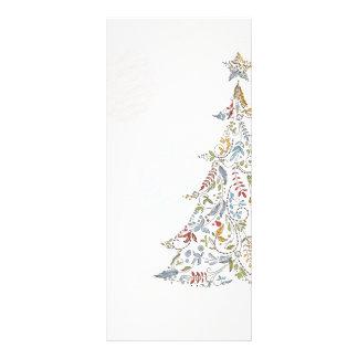 whimsical doodles christmas tree custom rack cards